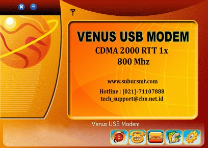Diver CDMA 2000 1x Venus USB Wireless Modem dapat di download disini